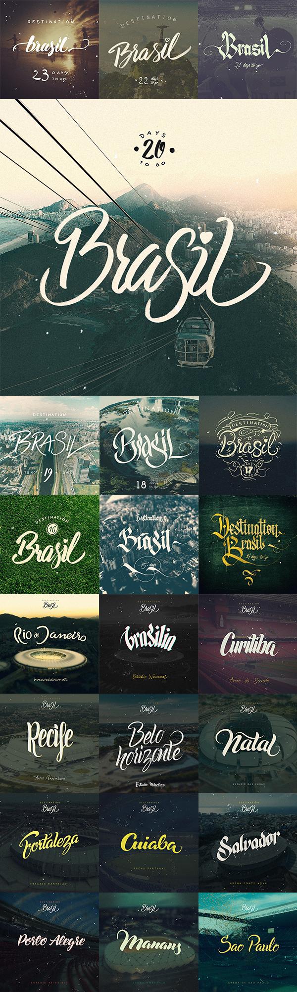 Destination Brasil - Typography