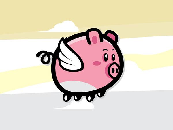 Flying Pig Sprite Sheets on