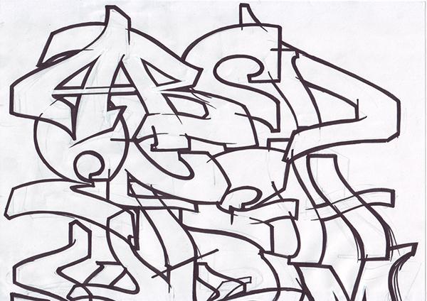 Graffitis letra b - Imagui