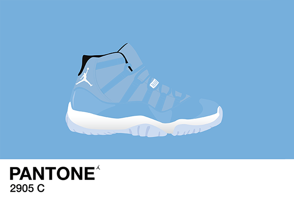 Air Jordan 11 Pantone Paint Swatch on Behance