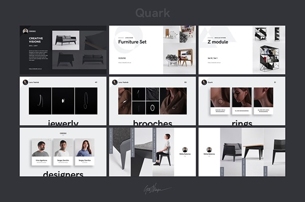 quark keynote presentation template on pantone canvas gallery, Powerpoint templates