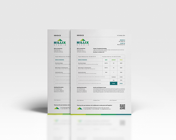 Invoice Letterhead Business Card for DOWNLOAD on Behance – Invoice Letterhead
