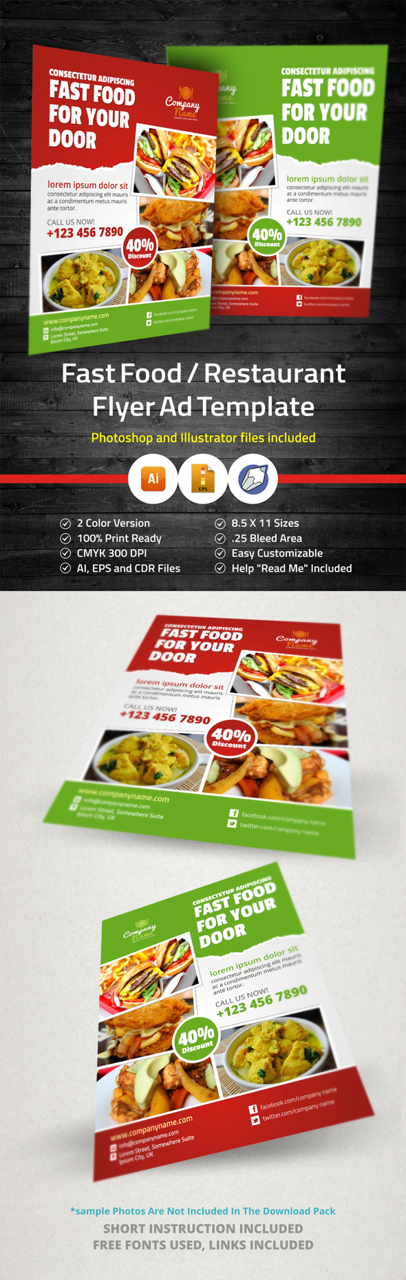 Fast Food Restaurant Flyer Ad Template On Behance