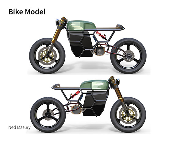 Electric Cafe Racer Automotive Design Industrial Product