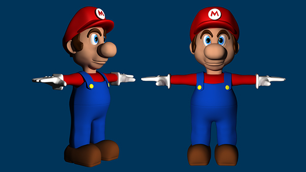 modelling texturing rigging mario Autodesk 3D Max 3D Character Modelling