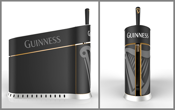 guinness home draught on behance