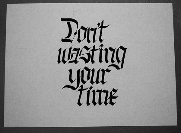 hand writing parallel pen lettering custom letter