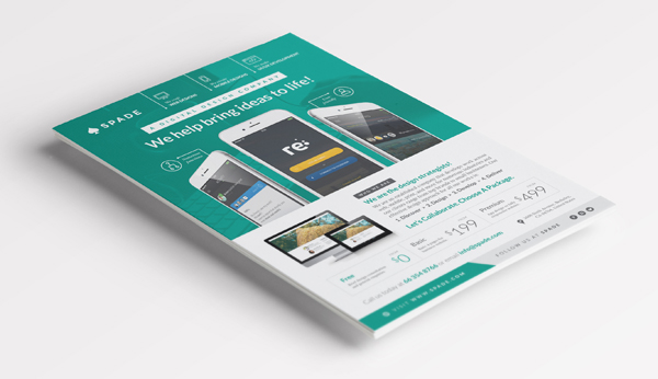 Design Services FlyerPoster Template WebAppGraphic On Behance - Pricing flyer template