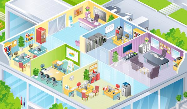 game Microsoft Isometric cartoon