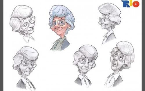 Sketch Grandma On Behance
