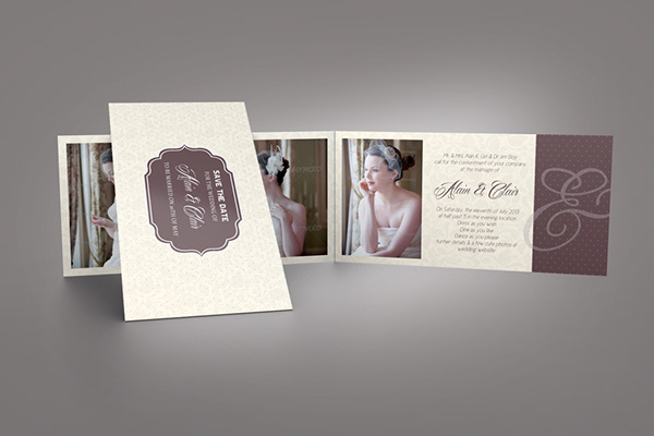Wedding invitation card on behance wedding invitation card it is a professional and clean indesign invitation card template that can be used for wedding and events cards stopboris Choice Image