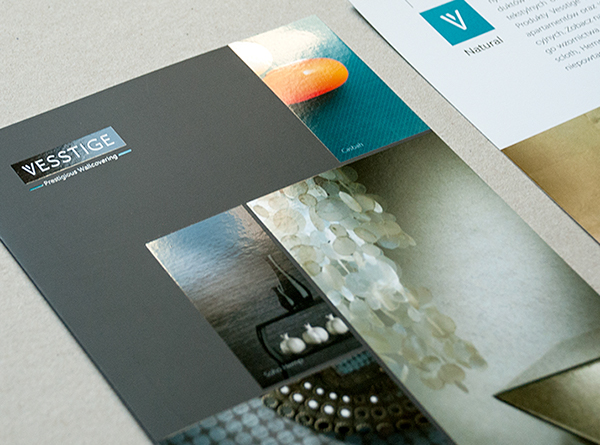wallcovering logo businesscard CI identity www vesstige