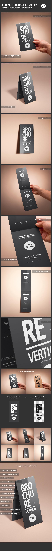 vertical flyer brochure mock up on behance