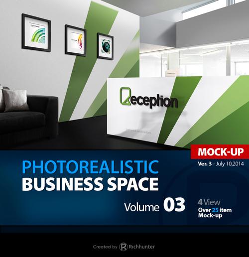 Mock Up Logo 3D In Reception Room
