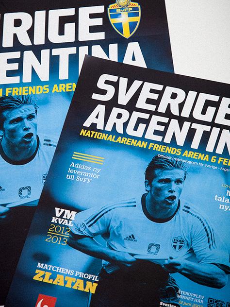 football sport Sweden magazine Program match team zlatan ibra ibrahimovic sverige Svenska Fotbollförbundet SvFF soccer
