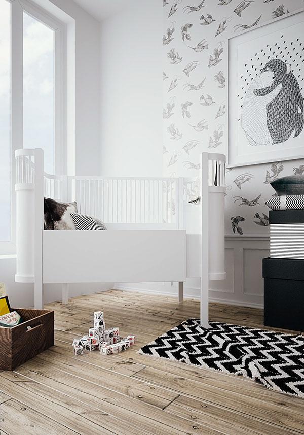 Interior design nursery Geometrical 3D MAX