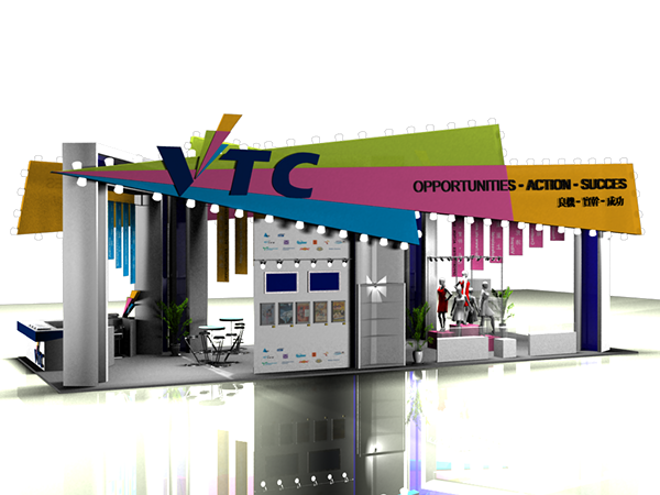 Education Exhibition Booth Design : Education and careers expo hong kong on behance