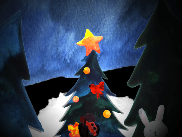 Merry Christmas x-mas mulled wine snow Let It Snow happy new year rabbit Tree  forest wood FAIRY TAIL santa nanà village moon