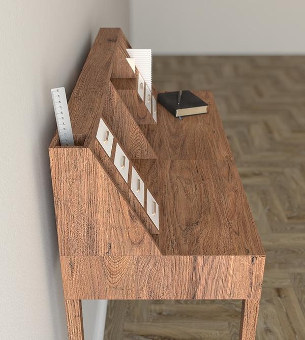writing desk cabinet secretary dressing table vanity table wood