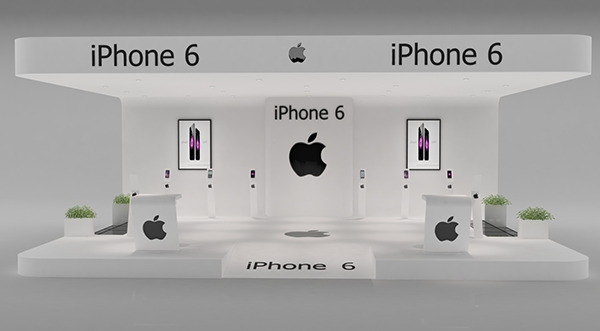 Exhibition Stand Design 3d Max : Iphone exhibition stand made in d max and vray on behance