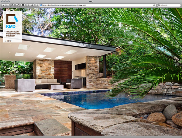 HTML Website - KMD Outdoor Construction on Behance on outdoor living house plans with pool, architecture modern house designs, outdoor sport court designs, outdoor toy houses, outdoor game room designs, outdoor pool house cabana, garage house designs, 2015 house designs, wheelchair accessible house designs, pool water fountain designs, outdoor arena designs, outdoor cottage designs, outdoor gas grill designs, outdoor kitchen designs, outdoor bar designs, black house exterior home designs, outdoor dog house designs, home pool designs, outdoor stall designs, outdoor luxury pool house,