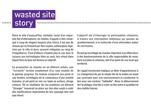 progress wasted site story algeco