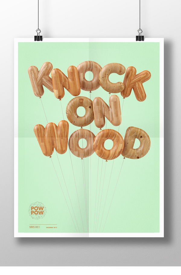 type text wood Cinema cinema4d art design graphic texture material wireframe poster ios7 apple
