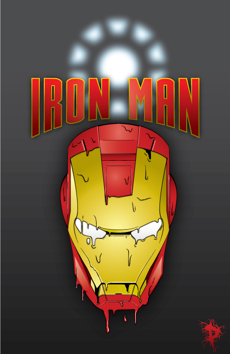 melting iron man mask-#22