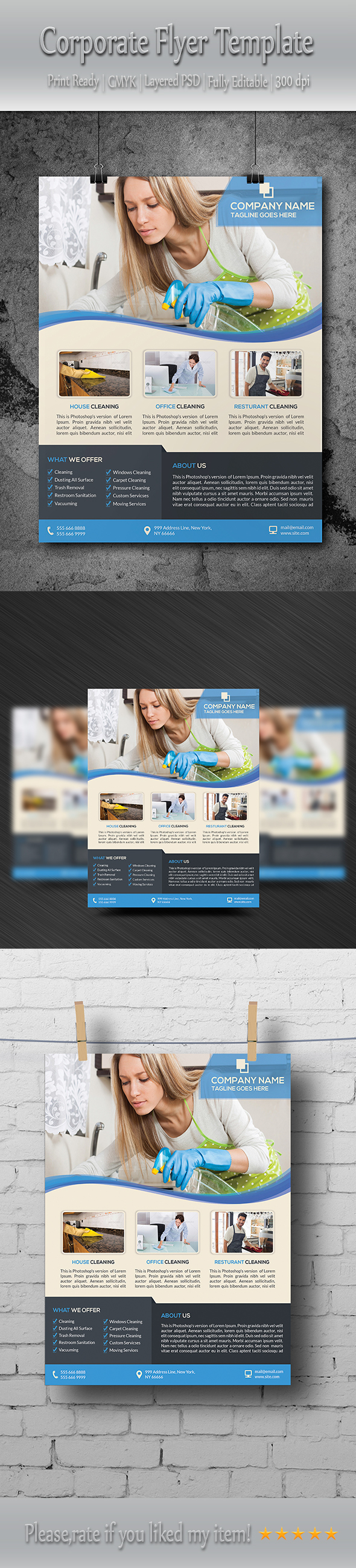 house cleaning service flyer template on behance buy