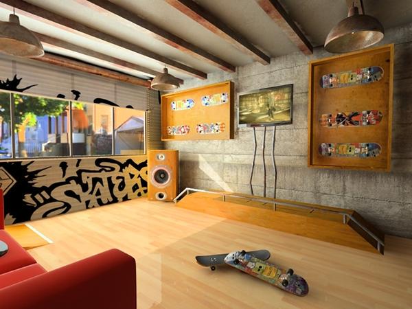 Skater room on behance for Boys skateboard bedroom ideas