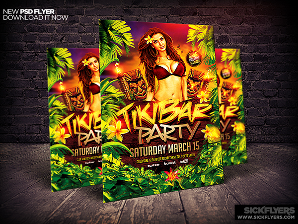 Tiki Bar Flyer Template Psd On Behance