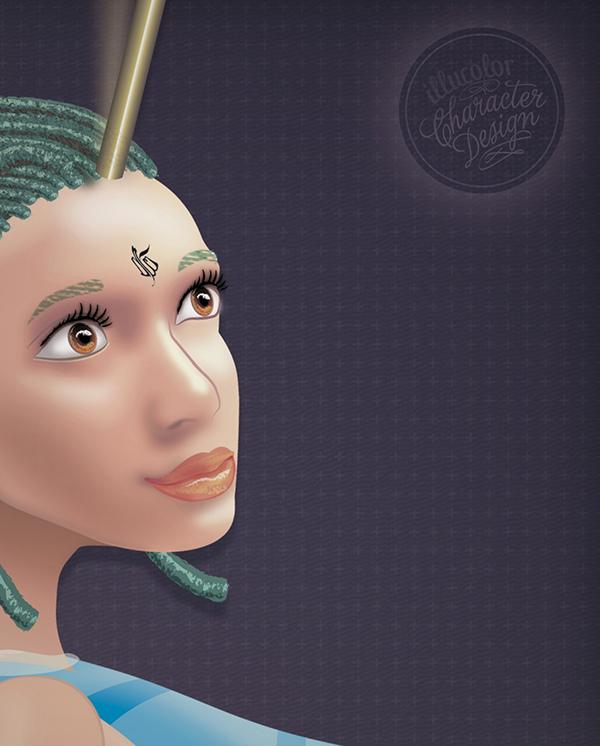 fairy hatter hat fee Chapelière Character print Web design Circus