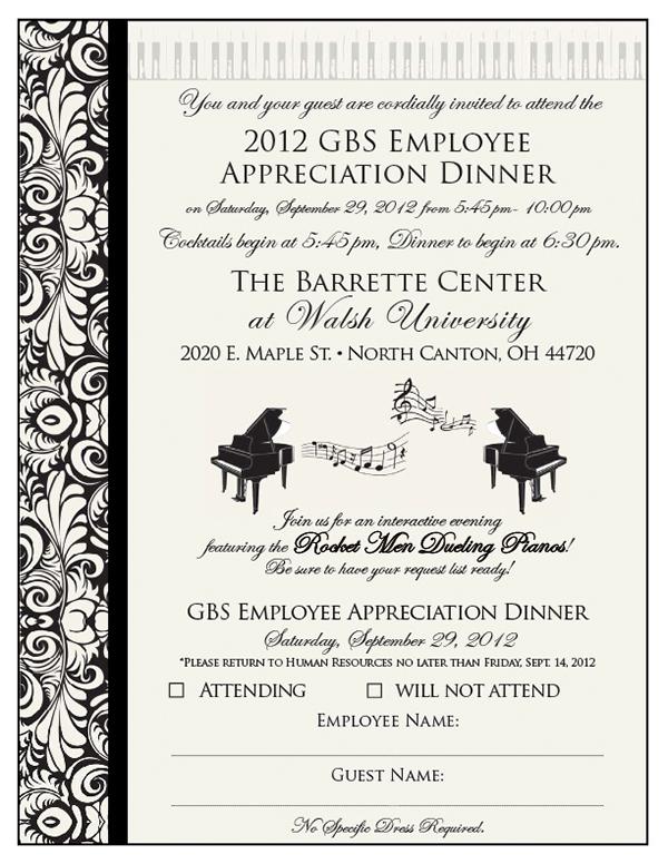 GBS Appreciation Dinner on Behance