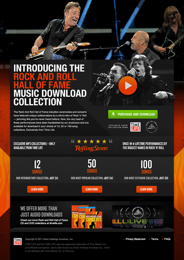 Rock and Roll Hall of Fame 25th Anniversary Concert on Behance