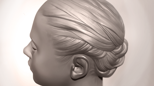 This is a super fast hair sculpt (playing around with a random ...