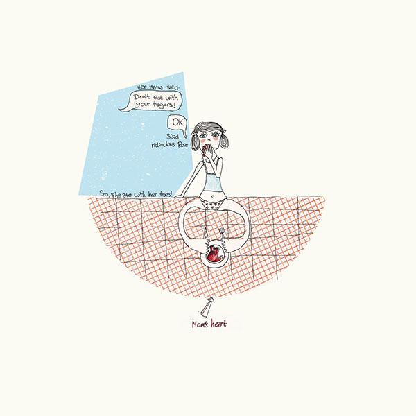 Illustrations for Shel Silverstein poems on Behance
