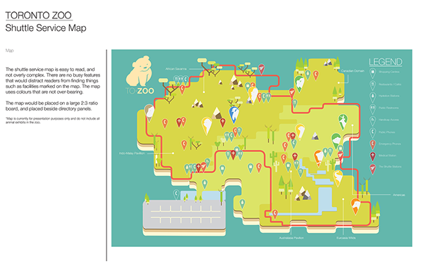 Toronto Zoo Rebranding Map Concept on Behance