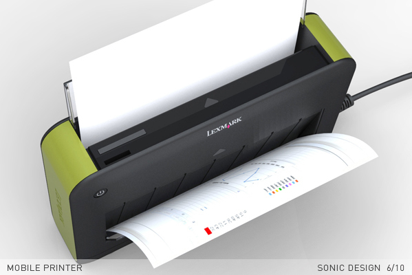 mobile printer on behance
