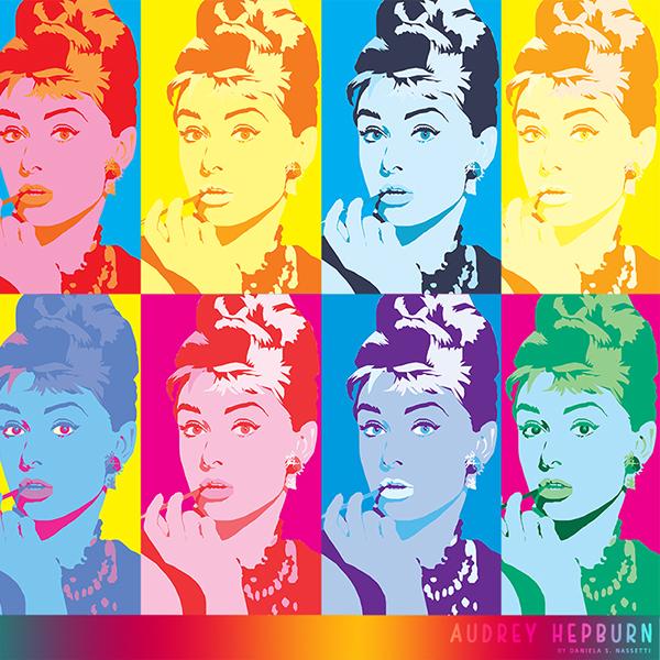Audrey Hepburn ~ Pop-Art on Behance