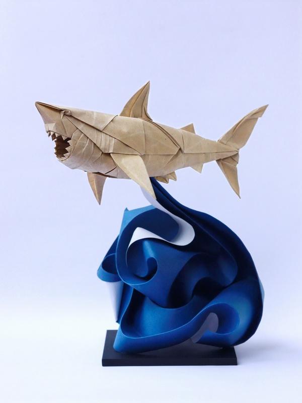 origami shark | Kindergeburtstag, Basteln, Papier | 800x600