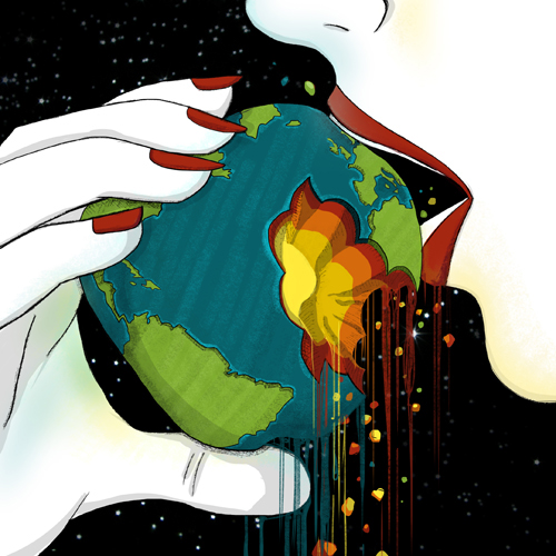 eden apple woman world bit falling