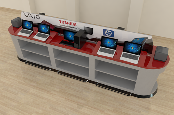 Mueble de exhibici n tecnol gica on behance - Mueble para cd ...