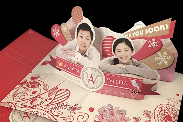 How To Make Wedding Pop Up Cards : Pop-up Wedding Invitation Card on Behance