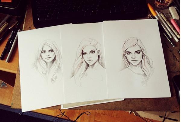 Model Illustrations #1 by Katarzyna Kozlowska