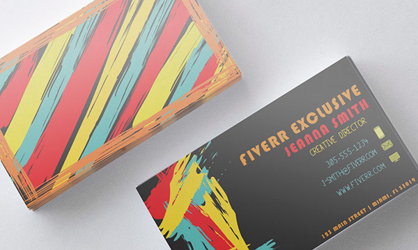 Business card designs on aiga member gallery this is a funkier and exciting business card design i like the color combination on colourmoves