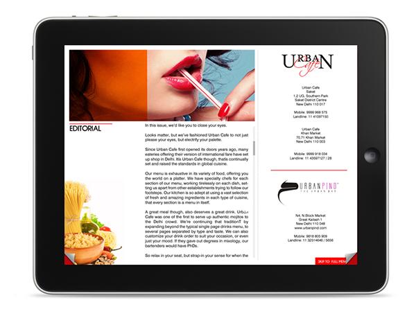 Urban cafe restaurant ipad app ui on behance