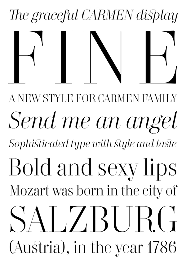 type design Display typefaces Custom spanish magazine