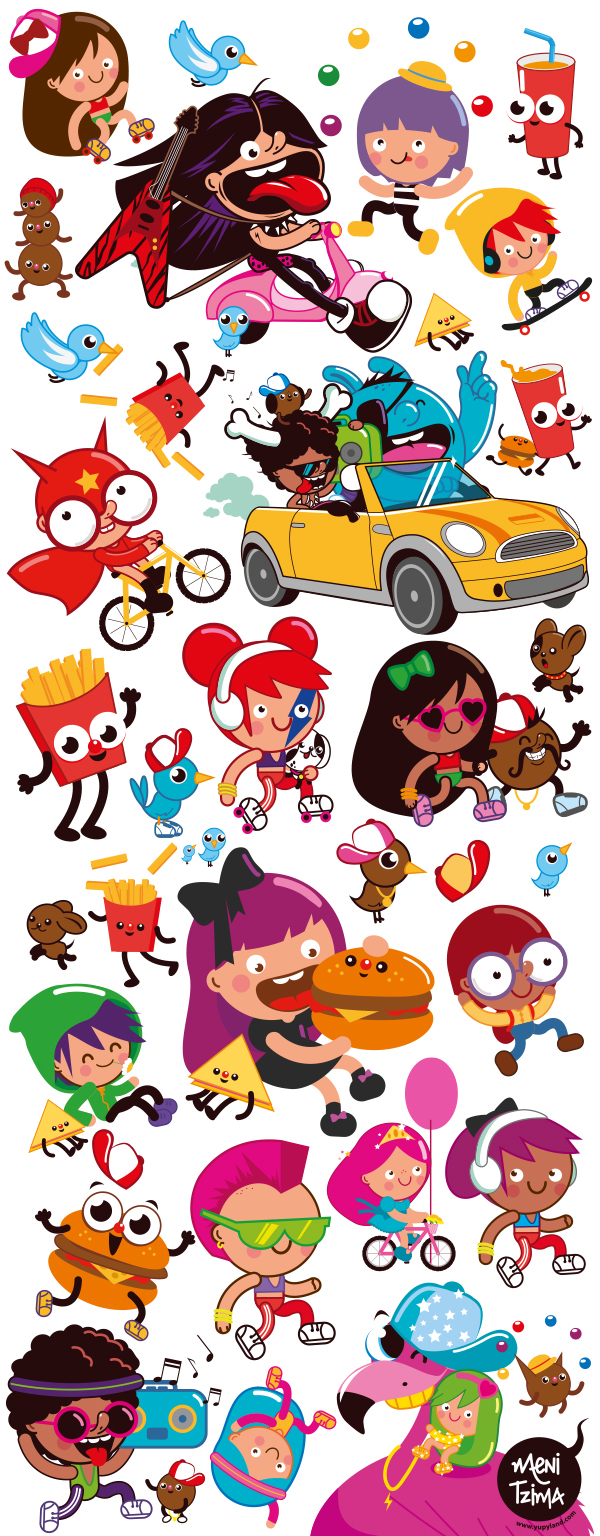 Character Design Companies : Kid s meal fast food package design on behance