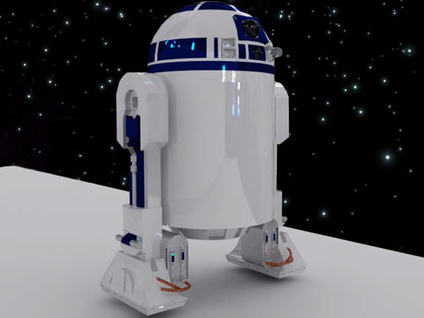 ... So I Took Disneyu0027s And Pixaru0027s Iconic Intros And Adapted Them Into A  Star Wars Environment, Turning R2D2 Into The Equivalent To Pixaru0027s Lamp.