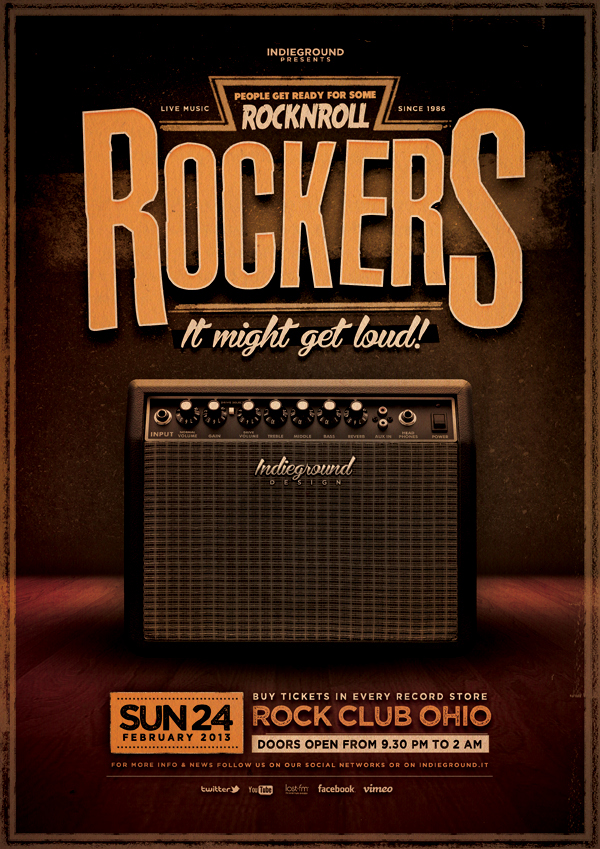 Rock poster vol 1 on behance for Buy cheap posters online